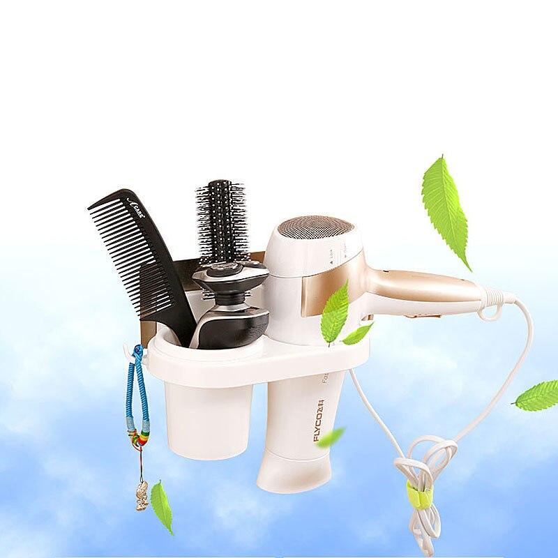Caixa de Armazenamento de casa Tipo Ventosa Secador de Cabelo Banheiro Rack de Montagem Na Parede Cosméticos Organizador Escova De Dentes acessórios do banheiro
