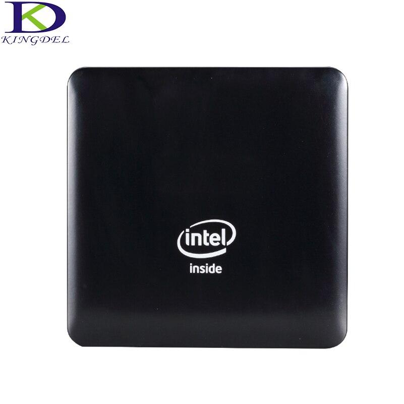 Kingdel Windows 10 PC Mini computadora Intel Atom X5-Z8350 Quad Core 4 GB RAM 64 GB EMMC WIFI HDMI Bluetooth 4,0 Micro PC de empresa