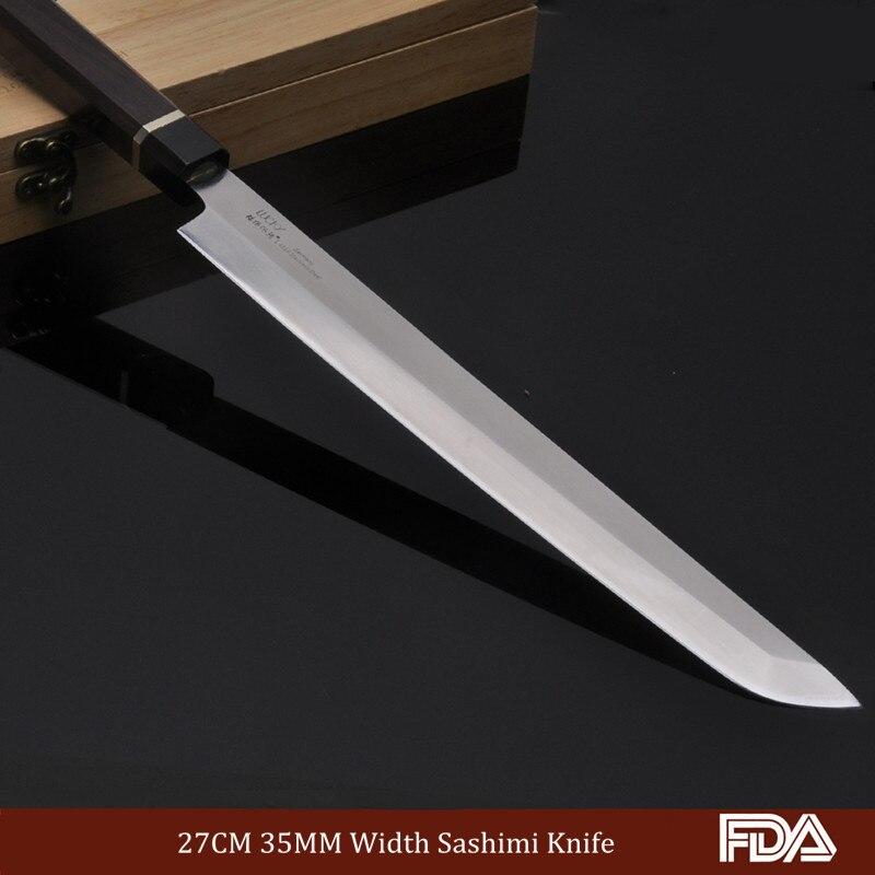 27 см профессиональный нож Sashimi японский Kitche knnives лососевый нож шеф-повара для рыбы Германия Нержавеющая сталь палисандр ручка 6.1.W