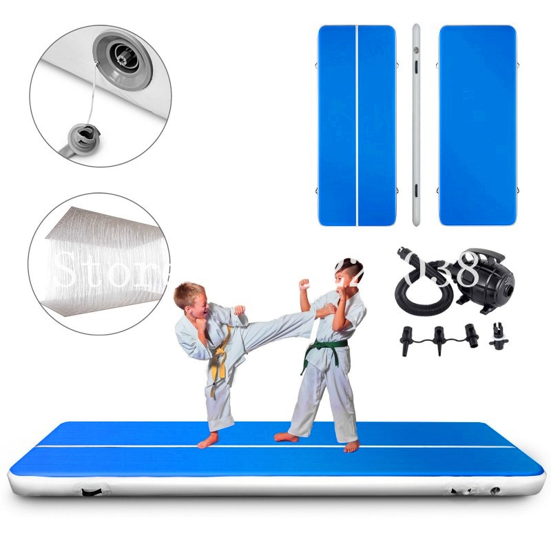 Pista de caída de aire inflable, Juegos Olímpicos, colchoneta de gimnasio para Yugo taekwondo, 0,2 m x 3x2, aire inflable, pista de gimnasio, uso doméstico, bomba de aire eléctrica