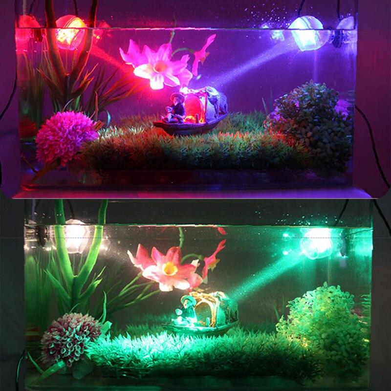 Tanque de peixes conduziu a iluminação à prova dwaterproof água subaquática spotlight noite marinha/mergulho luz aquário decoração da lâmpada acessórios loja