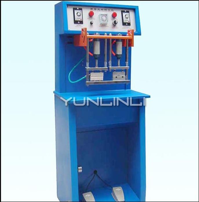Pneumatic Hose Sealing Machine 220V 200W 55mm Toothpaste Tube Cosmetic Aluminum Plastic Tube Hose Sealing Machine Tail Sealer enlarge
