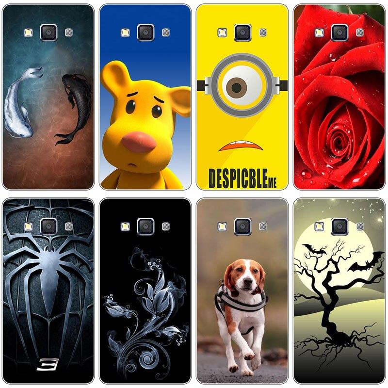 Fundas de teléfono móvil coloridas originales para Samsung Galaxy E7 E700H E700F E7000 fundas traseras completas funda impresa de plástico duro