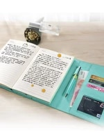 creative colour band button and jacket personality notebook simple literature and art lovely notebook