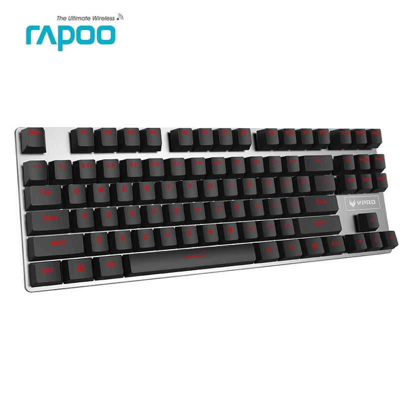 Rapoo-teclado mecánico para jugar V500, versión de aleación con Cable USB de...