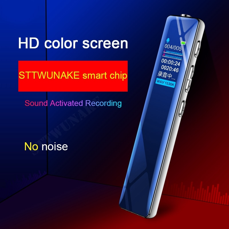 STTWUNAKE grabadora de voz dictáfono mini bolígrafo de sonido profesional micro grabadores de audio digital grabación activada MP3