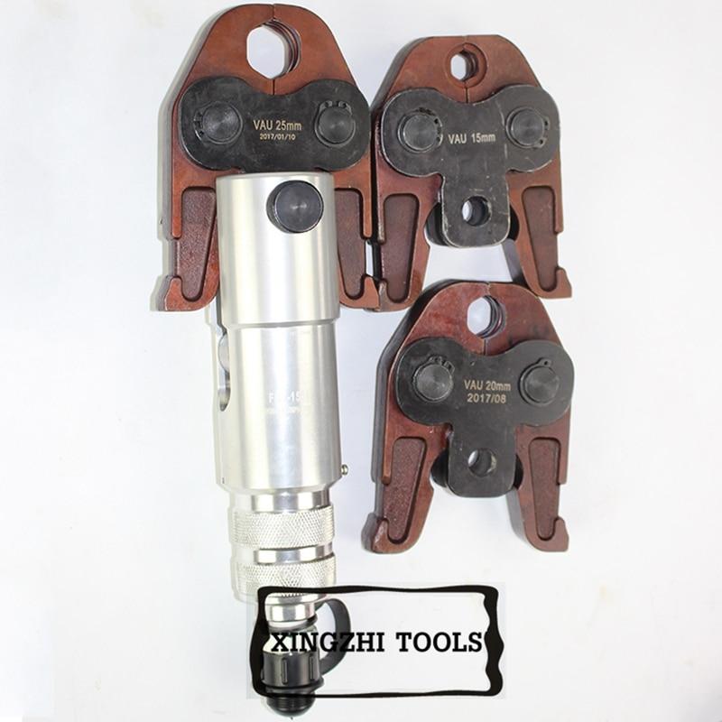 Hydraulische Rohr Pressen Werkzeuge Pressen Werkzeuge mit VAU15, 20,25mm für Australien edelstahl und kupfer rohr FHT-1550