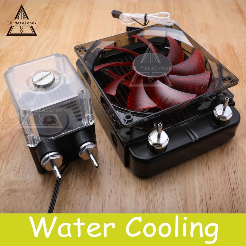 Kit de enfriamiento de agua 3D Matalchok Titan AQUA para piezas de impresora 3D para extrusora E3D Hotend Titan para KIT de impresora 3D TEVO