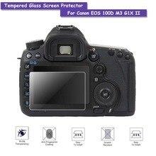 9 H verre trempé LCD écran protecteur bouclier vrai Film de verre pour Canon EOS 100D M3 G1X II accessoires de caméra