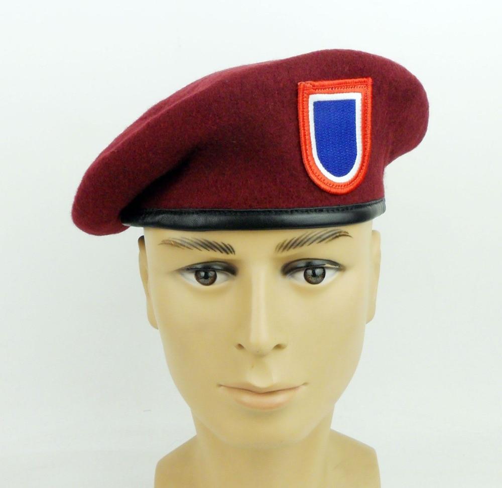 EUA Exército 82nd Divisão Aerotransportada Forças Especiais DOS EUA Chapéu Boina de Lã Boina Vermelha Mundo Loja militar