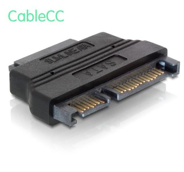 SATA 22Pin a slimline SATA 13Pin Adaptador convertidor conector 1 SATA 22Pin 7 + 15 hembra conector 2 Micro SATA 13Pin (7 + 6) M