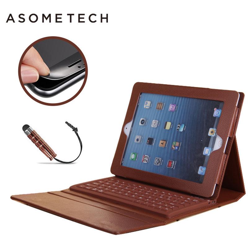Hot Sem Fio Bluetooth Teclado Caso Para 2017 novo Ipad pro 9.7 sênior PU Folio Fique Capa Para iPad air 1 2 caso Capa protetora