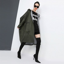 2019 Fashion Antumn Winter Herringbone Casual Open Stitch Pockets Wide-Waisred Mid-Calaf Loose Coat Woman Overcoat 5Zc0152F