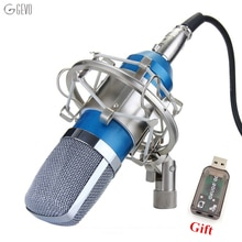 BM-700 professionnel condensateur Microphone filaire 3.5mm ordinateur micro BM 700 avec support de choc en métal pour Studios vidéo enregistrement PC