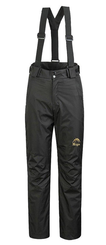 Pantalones con peto para esquiar al aire libre, con aislamiento, resistentes al viento y resistentes al agua para mujer