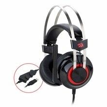 Redragon casque de jeu stéréo H601 TALOS 7.1 canaux suppression de bruit Surround au-dessus des écouteurs avec micro