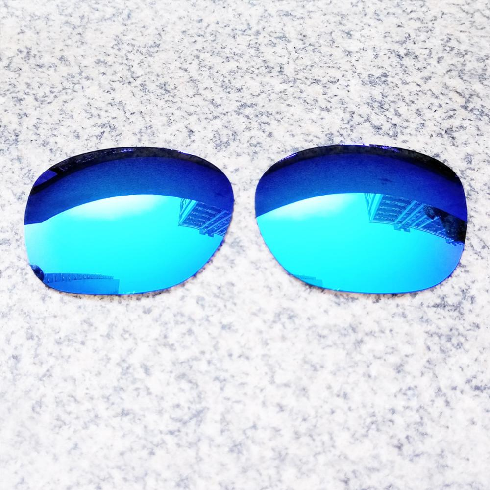 Atacado eo.s polarizado lentes de substituição aprimoradas para oakley garagem rock óculos de sol-gelo azul polarizado espelho