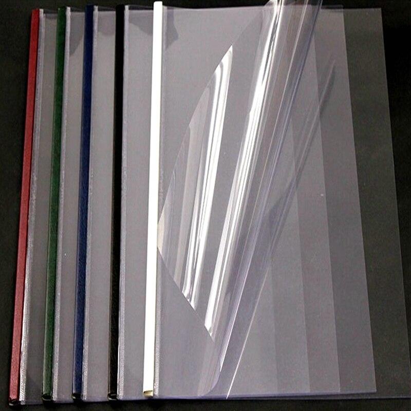 5 unids/lote Deli A4 21-50mm (176-495páginas) cubiertas de encuadernación térmica de columna de acero cubierta de cristal de acero cubierta mate encuadernación de libros