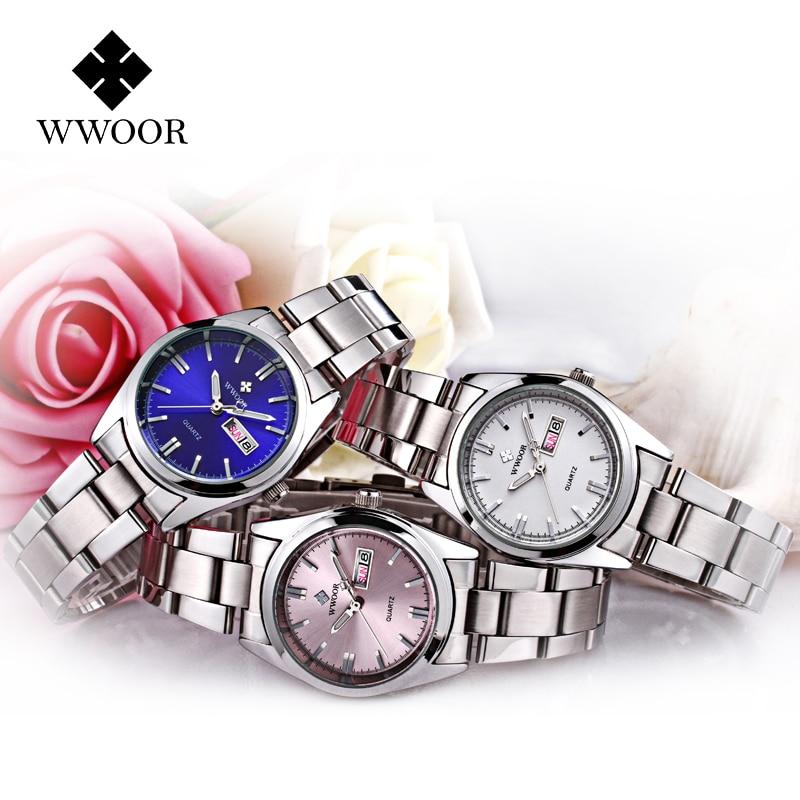 reloj mujer WWOOR Famous Brand Luxury Romantic Women Bracelet Watches Ladies Dress Clock Small Pink Wristwatch montre femme 2020 enlarge