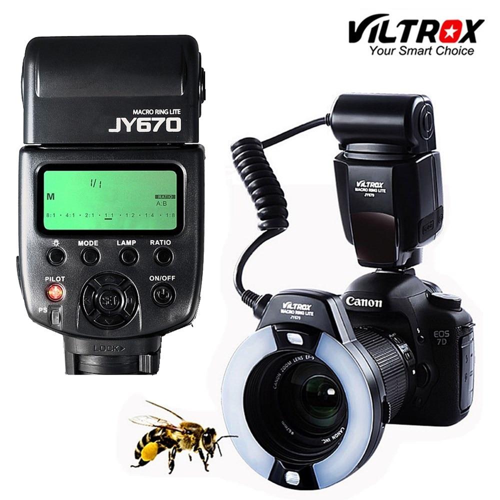 Viltrox JY-670 DSLR foto de cámara LED Macro anillo Lite luz Flash para Speedlite para Canon Nikon Pentax Olympus DSLR