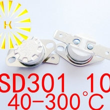 KSD301 10A 40-300 degree Ceramic 250V Temperature Switch Thermostat Fuse For Water Heater x 10PCS FR
