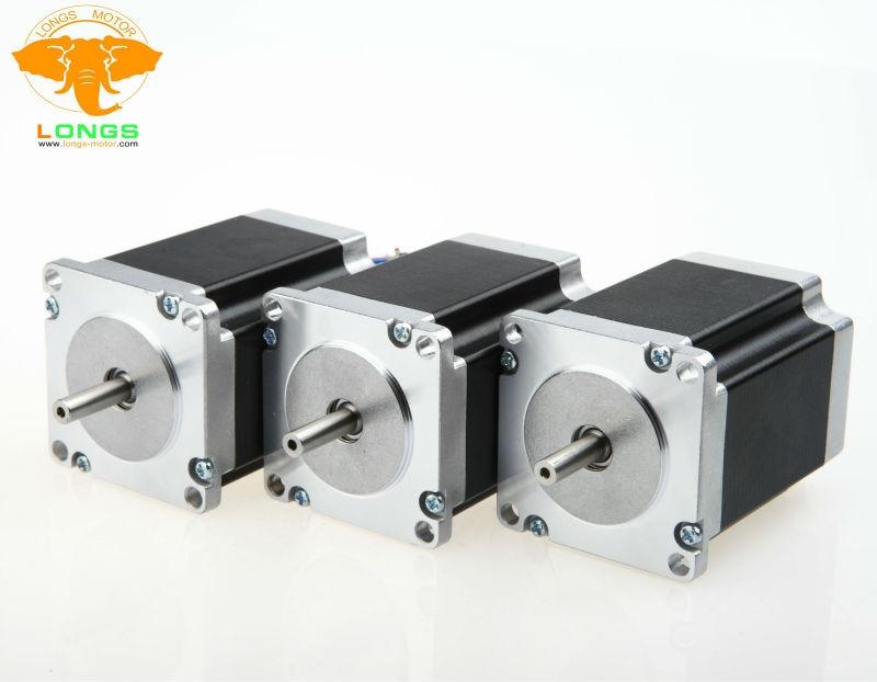 La UE envío gratis Motor paso a paso 3 uds Nema 23 270 oz en = 1.9NM de eje único 3A 23HS8430 CNC router kit