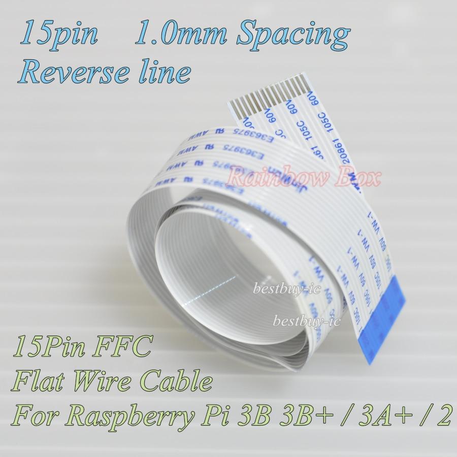 Cable Flexible plano para cámara Raspberry Pie, Cable extensible de 15 pines