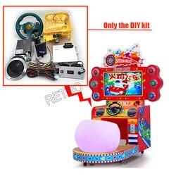 Arcada carro de corrida kit com 31 em 1 jogo placa volante moeda aceitante fonte alimentação para diy crianças máquina jogo