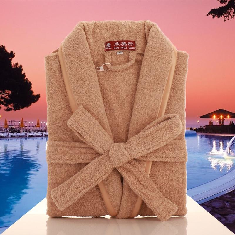 Men's Kimono Bathrobe 100% Cotton Men's Robes Plus Size Lightweight Long Robe For Men Absorption After Shower Bathrobe Sleepwear недорого