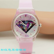 luxury brand women high quality sky face quartz wristwatch promotion student colorful plastic dress