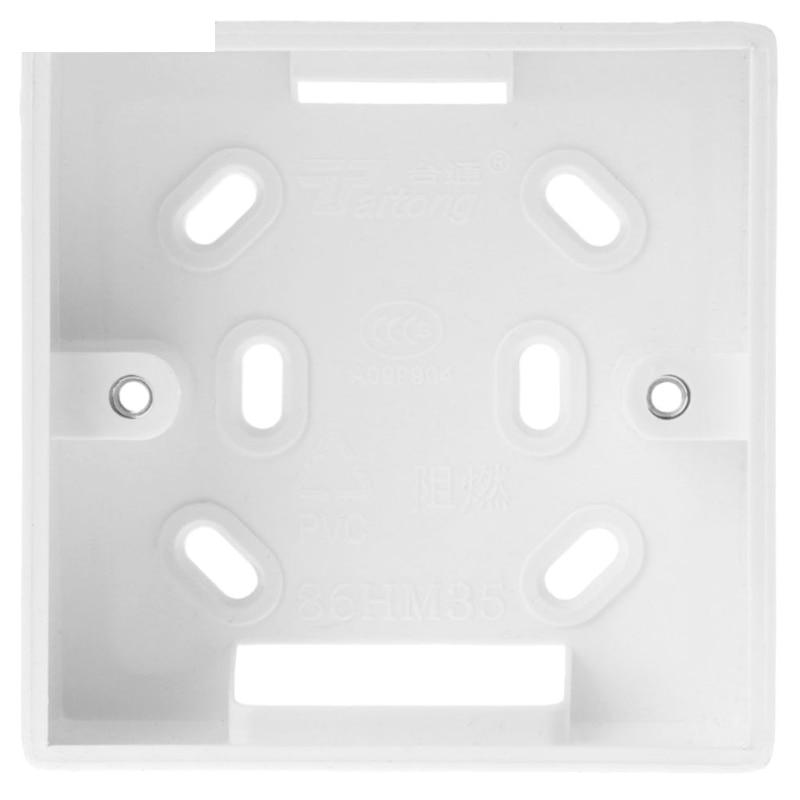 Caixa de junção montada na parede para a caixa branca da instalação da cor do termostato para o termostato 86*86mm da caldeira