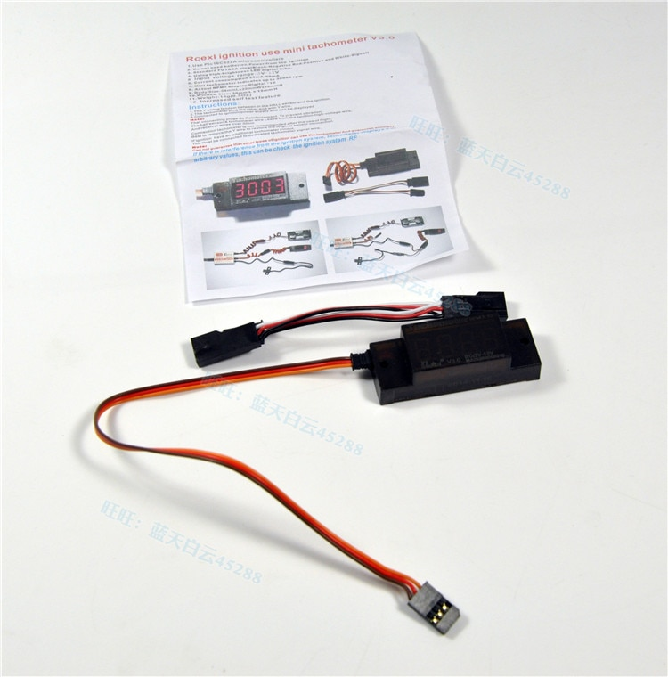 Rcexl Ignition Mini Tachometer V3.0 Revolution Meter for RC CDI Petrol Gas Engine