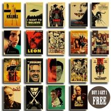 Vintage Poster Klassieke Film Pulp Fiction / Kill Bill/Fight Club Poster Retro Kraftpapier Posters Decoratieve Kunst Schilderen