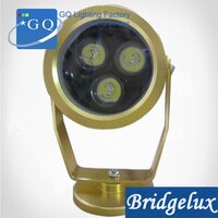 10pc/lot DHLFedex UPS free ship 3W LED underwater light lamp 3W IP68 golden waterproof lighting geyser pool pond LAMP DC12V