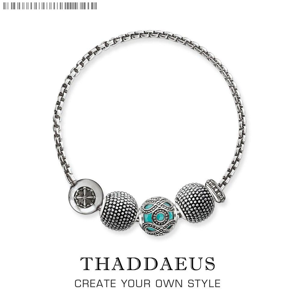 2017 Brand New Beads Bracelet Kathmandu,Thomas Silver Plated Karma Bracelet Trendy Ts Fashion Jewelry Gift For Women Lover