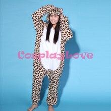 Leopard Bär Pyjamas Tier Cosplay Kostüm Kind Erwachsene Pyjamas Onesies Cartoon Nachtwäsche Schlafanzug