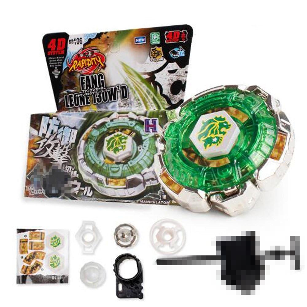 Bayblade BB106 Fang Leon 4D, pelea de fusión de metales, juguete de juego para chico Giratorio De León