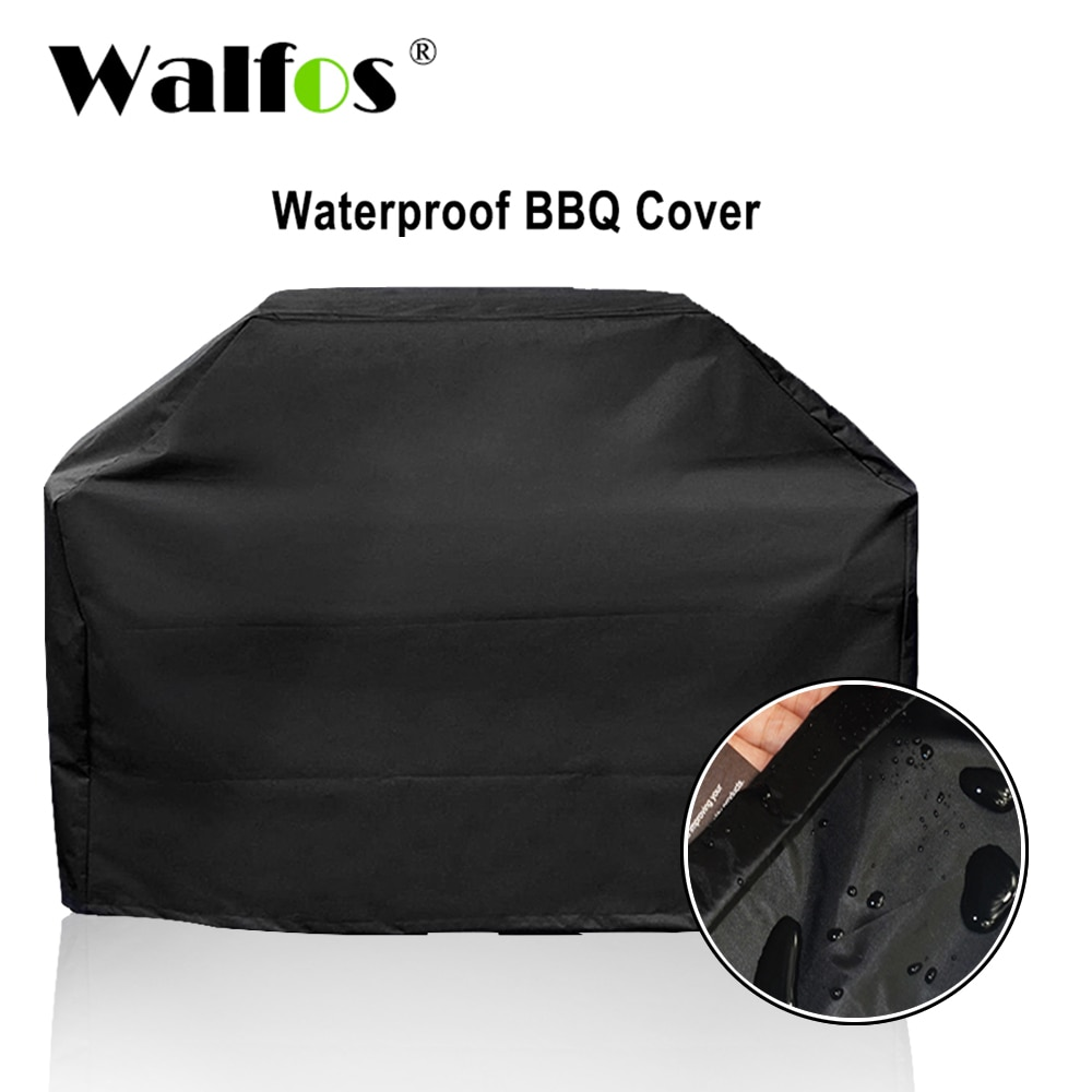 WALFOS Brand Waterproof BBQ Grill Barbeque Cover Outdoor Rain Grill Barbacoa Anti Dust Protector For