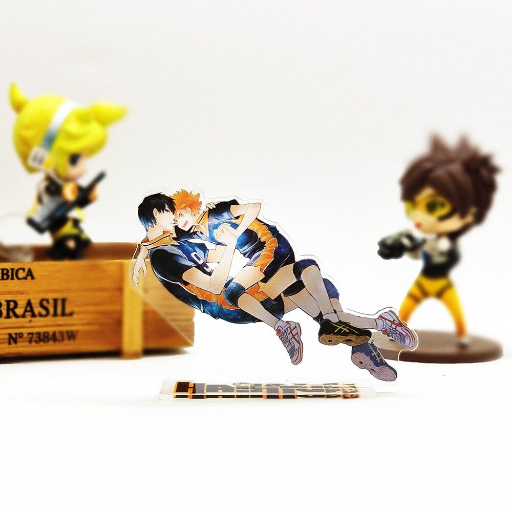 ¡Gracias, Haikyuu! Hinata shoyo Kageyama tobio figura acrílica con soporte, modelo de placa, soporte para torta, anime japonés fresco