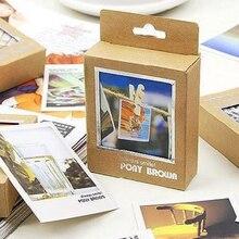 40 Pcs/pack nouvelle Cassette Lomo Mini cartes rétro paysage Style Cartoon bricolage cartes vierges carte postale carte de voeux pour les amis