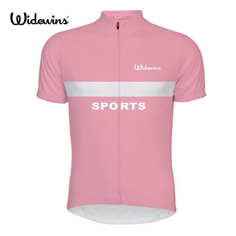 Camiseta de ciclismo widewins Raya Rosa para mujer, camiseta Retro de verano de manga corta para bicicleta MTB, ropa para ciclismo, Top transpirable 8005