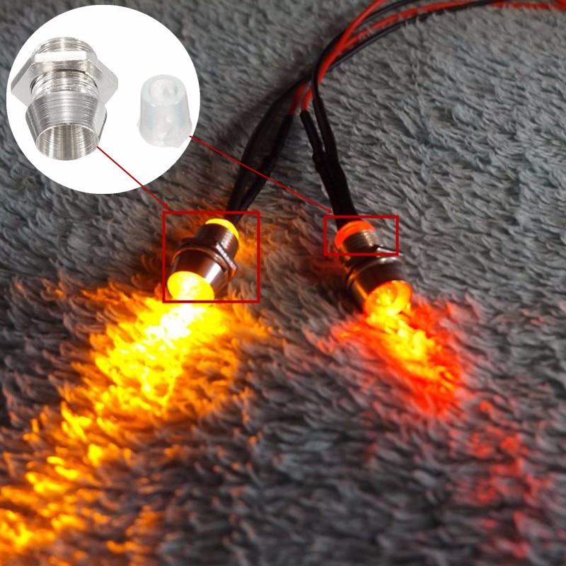 10 stücke 3mm Emittierende Diode LED Licht Lampe Lünette Halter Panel Display Silber Chrom Metall Kupfer Kunststoff