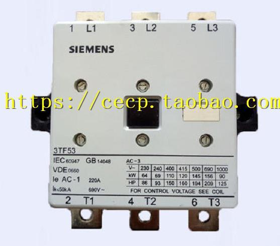 100% Originla nuevo 2 años de garantía 3TF53 AC contactor 3TF5322-0XF0 3TF5322-0XM0 3TF5322-0XQ0