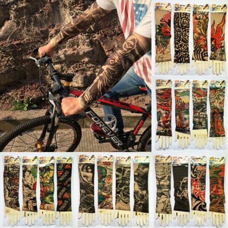 Tcare tatuaje protector solar respirable al aire libre mangas coche bicicleta motocicleta protector solar manga para Mujeres Hombres Jóvenes ciclismo caminar deporte