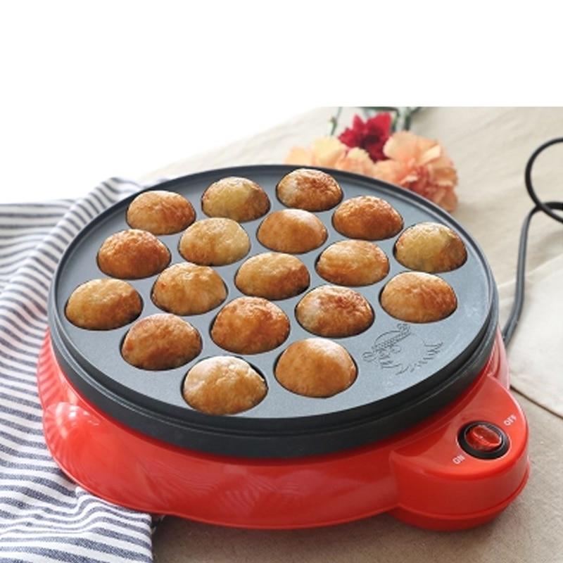 Máquina eléctrica para hornear pulpo de Chibi Maruko, máquina doméstica takoyaki, máquina para Hacer bolas de pulpo, herramientas de cocina profesionales