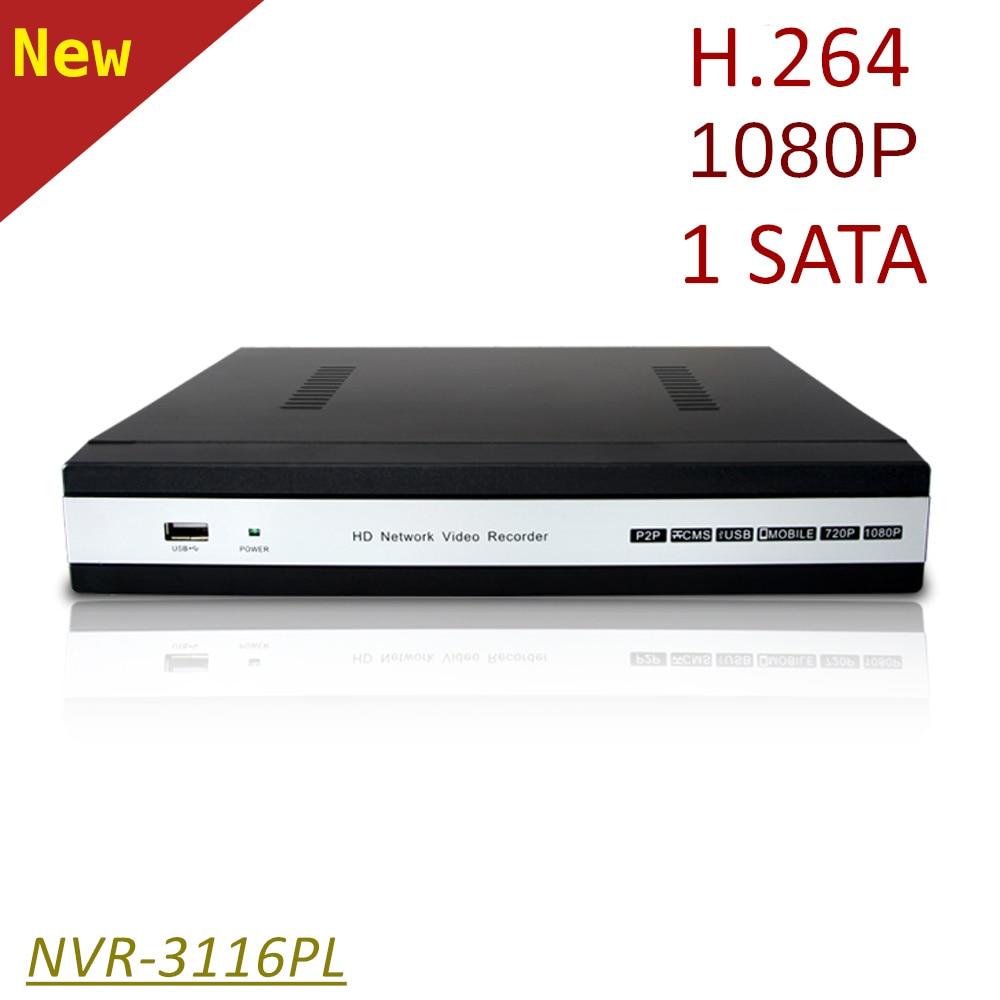 ElitePB 16 canales NVR HD1080P H.264 1 sata CCTV IP red Video Recorder pal/ntsc soporte Onvif acceso remoto por teléfono móvil