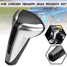 Manette de vitesse de levier de vitesse   Voiture Chrome/mat pour Peugeot 307 pour Citroen C4 Triumph/Sega