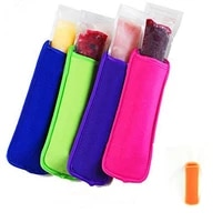 500pcs popsicle holders pop ice sleeves freezer pop holders 8x16cm for kids summer kitchen cookies 4 color