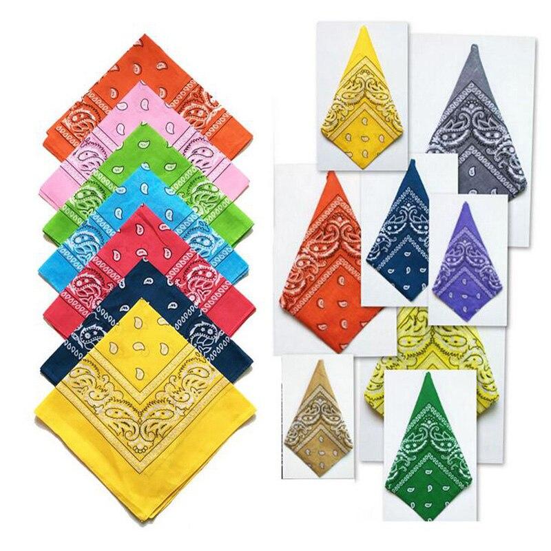 2019 algodón Bandana Pañuelo cuadrado mágico bufanda de las mujeres de los hombres de moda motocicleta bicicleta hombre mujer cabeza pañuelos bufandas Hijab