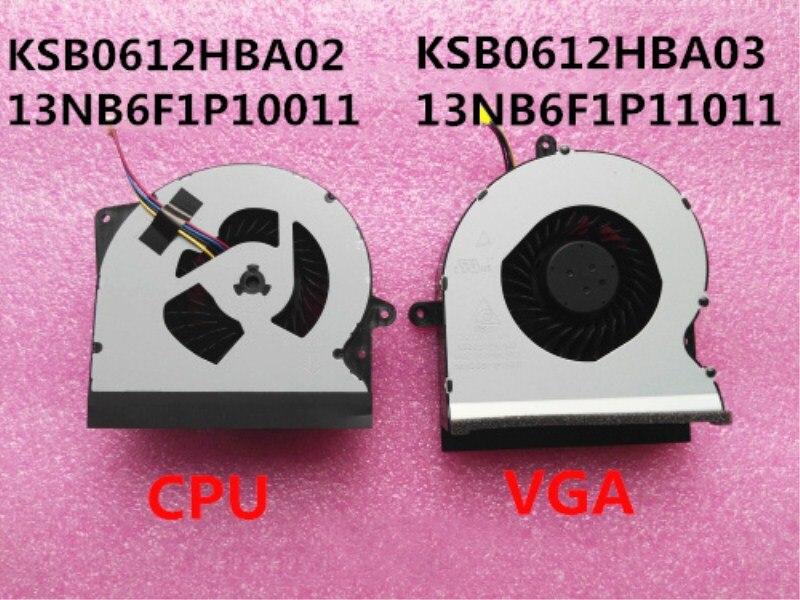 Neue Laptop/Notebook Cpu-lüfter Für Asus ROG G751 G751JY G751JT G751JZ G751JL KSB0612HBA02 13NB06P1P10011 KSB0612HBA03 12 V